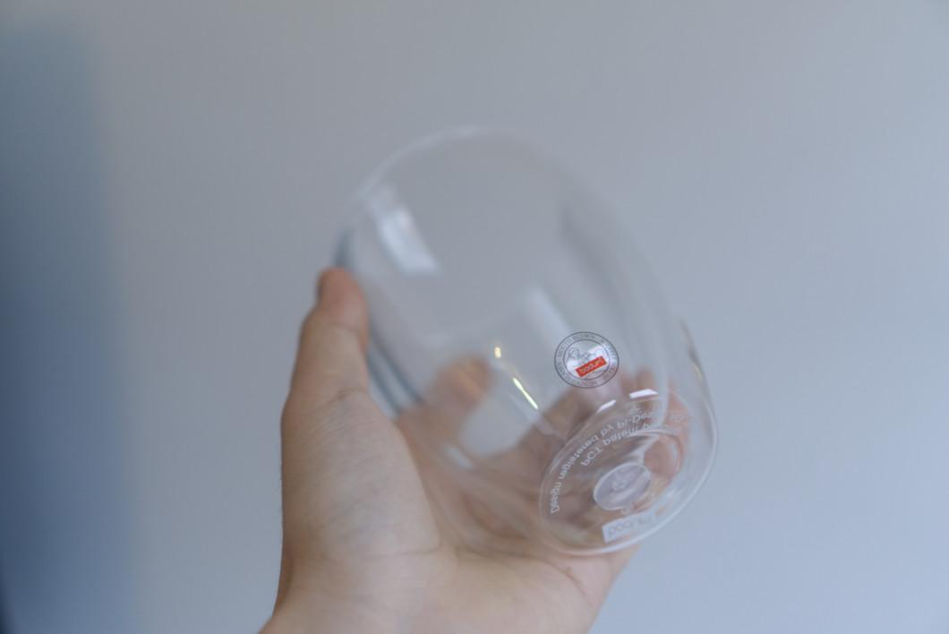 ダブルウォールグラスのシリコンシール